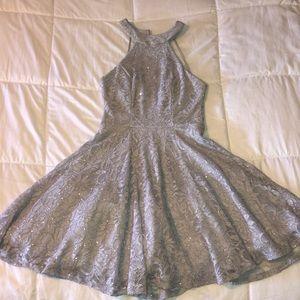 Light purple/grey mini dress